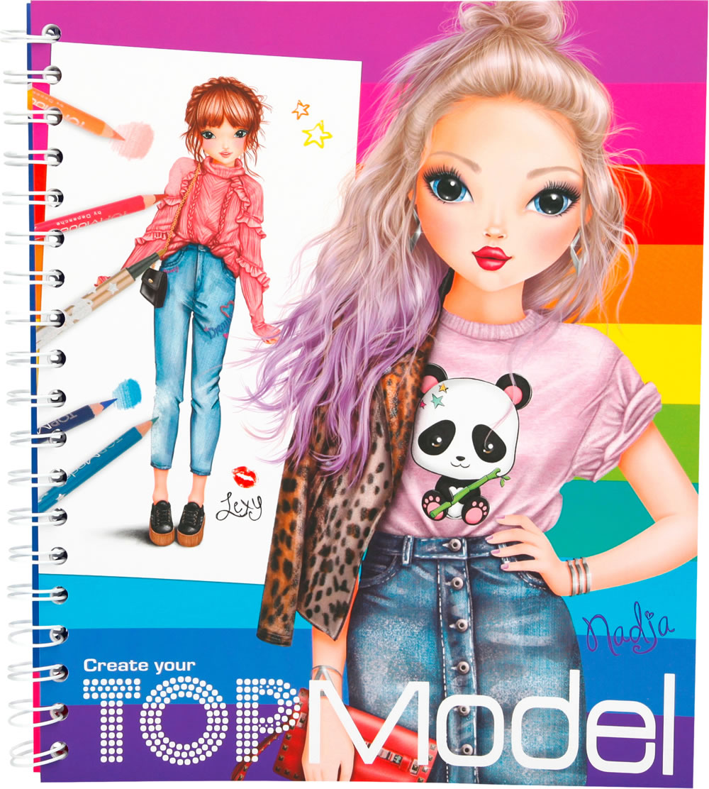 Topmodel livre colorier create your topmodel lexy et nadja - Top model carnet de dessin ...