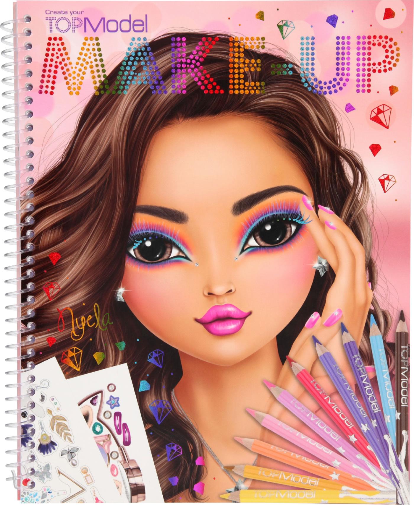 Topmodel Livre A Colorier Create Topmodel Make Up Nyela