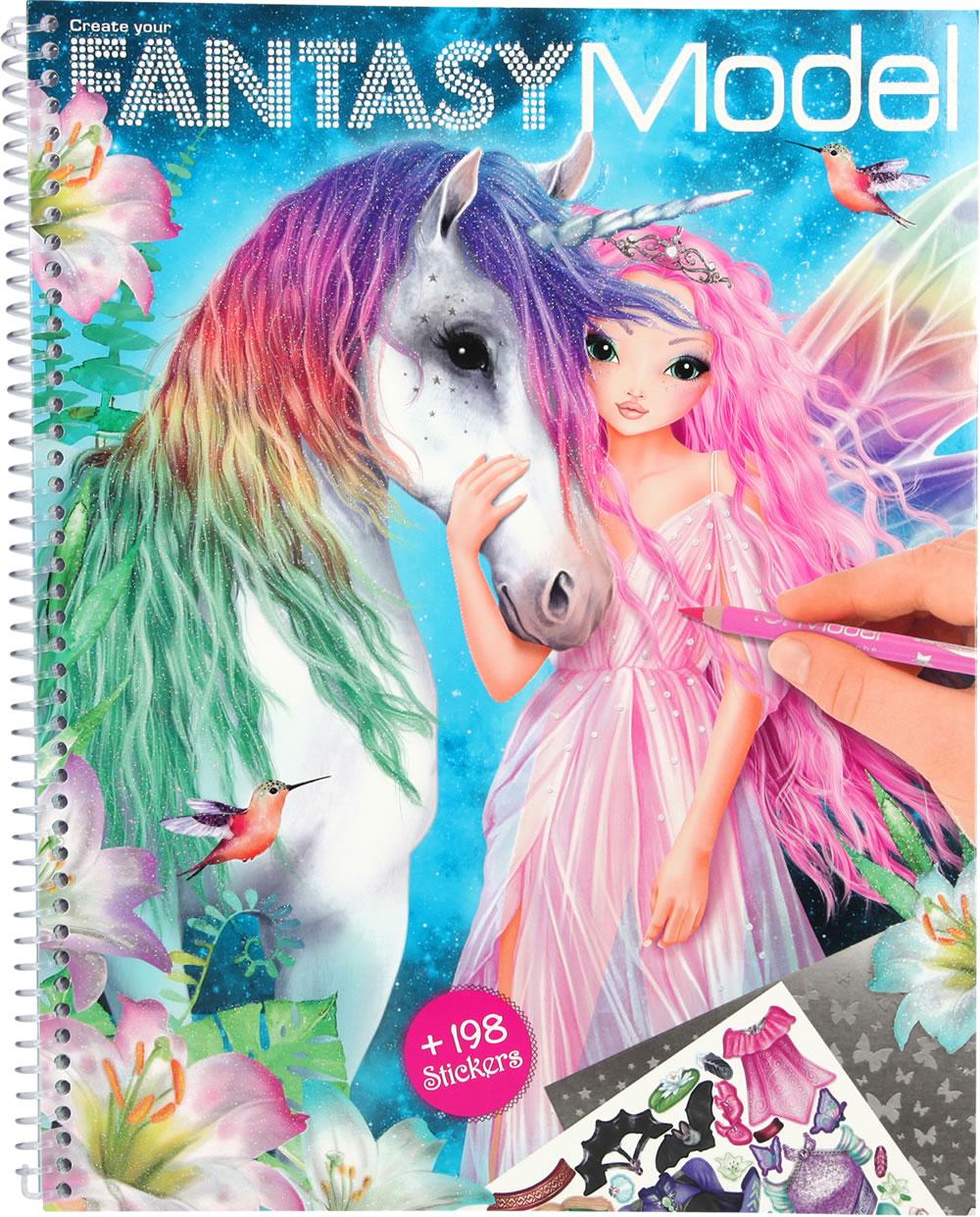 Topmodel Livre A Colorier Fantasy Model