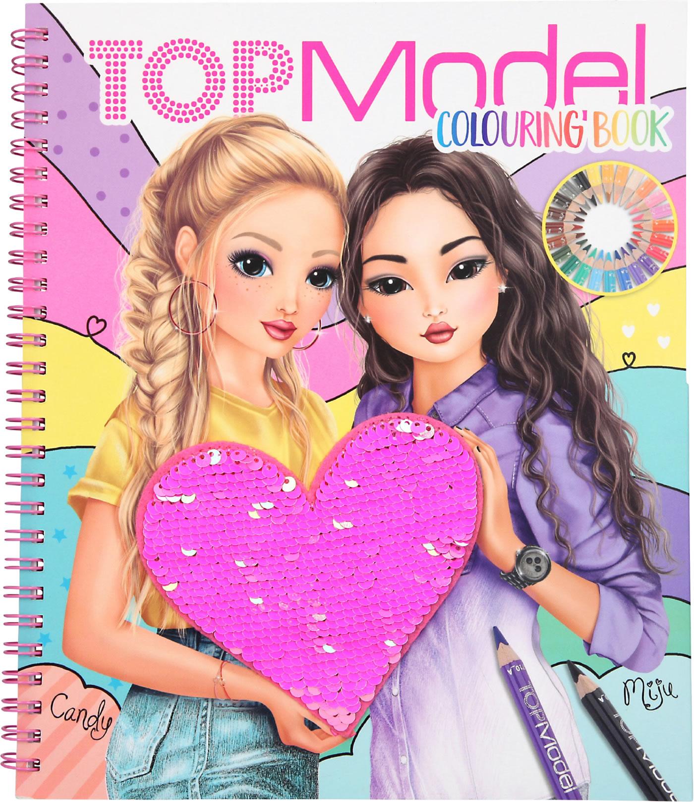 Topmodel Livre A Colorier Avec Paillettes Candy Miju