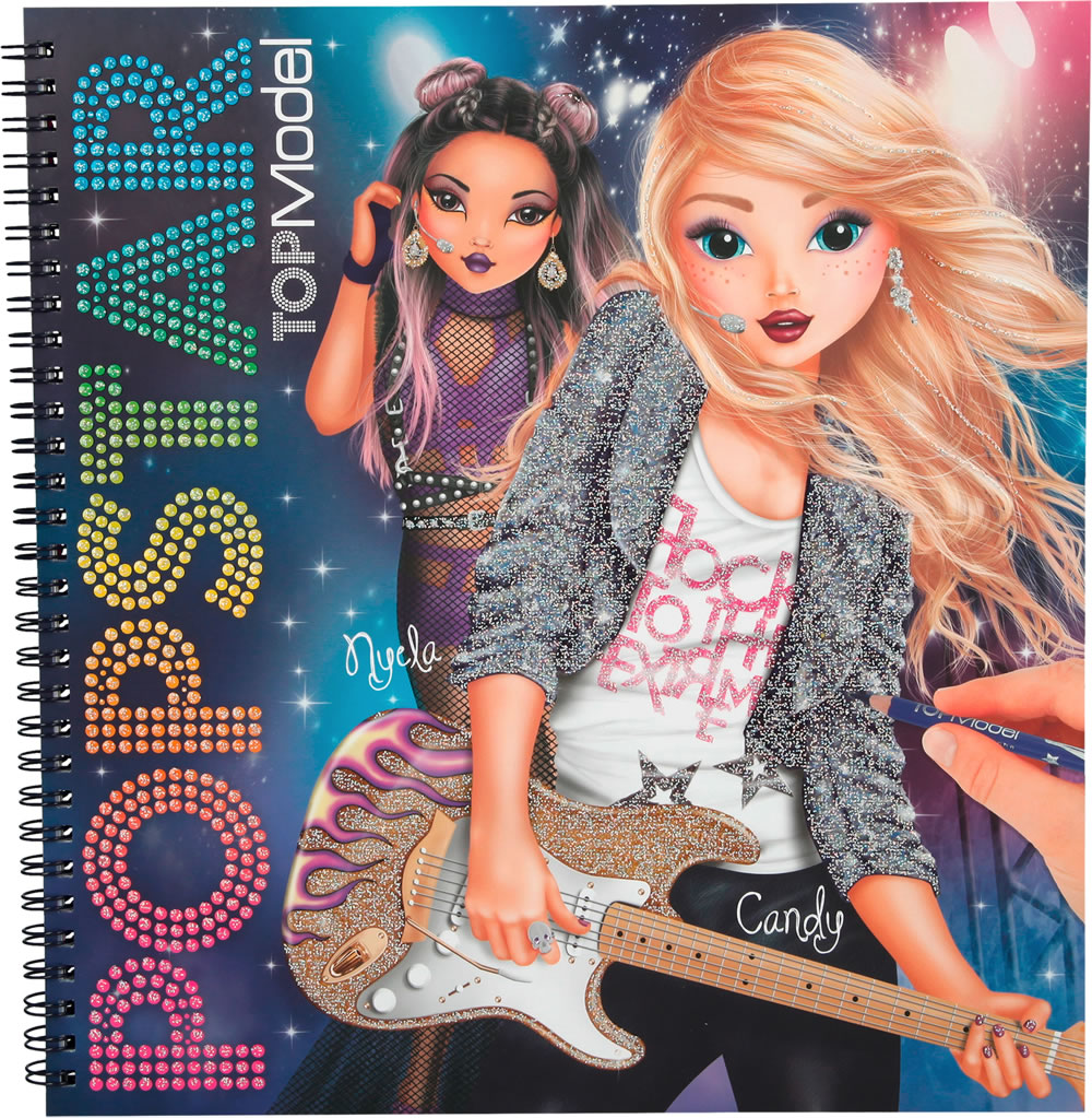 Topmodel livre du couleur popstar nyela et candy - Photo de dessin top model ...