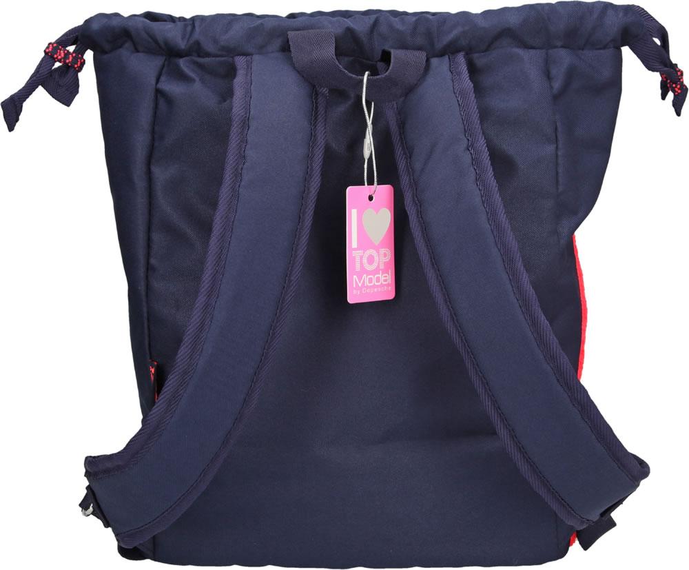 fa7a4665039f4 Dieser Rucksack von TOPMODEL ist ein tolles Accessoire für die Freizeit  oder Sport. Das große Hauptfach ist mit einem Zugband versehen.