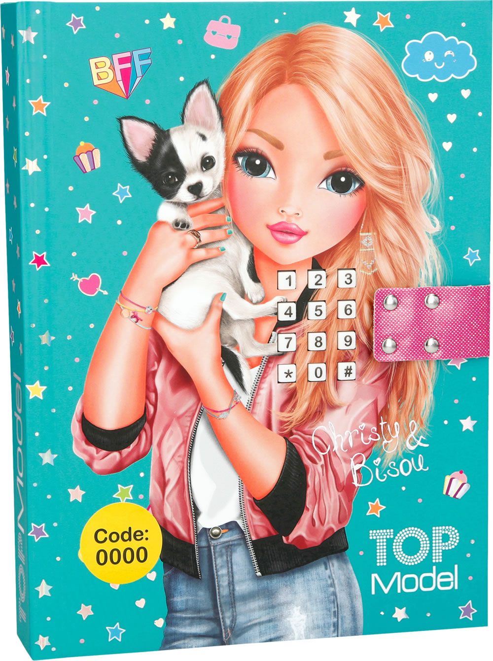 Topmodel diary with secret code christy bisou online at for Top mobel