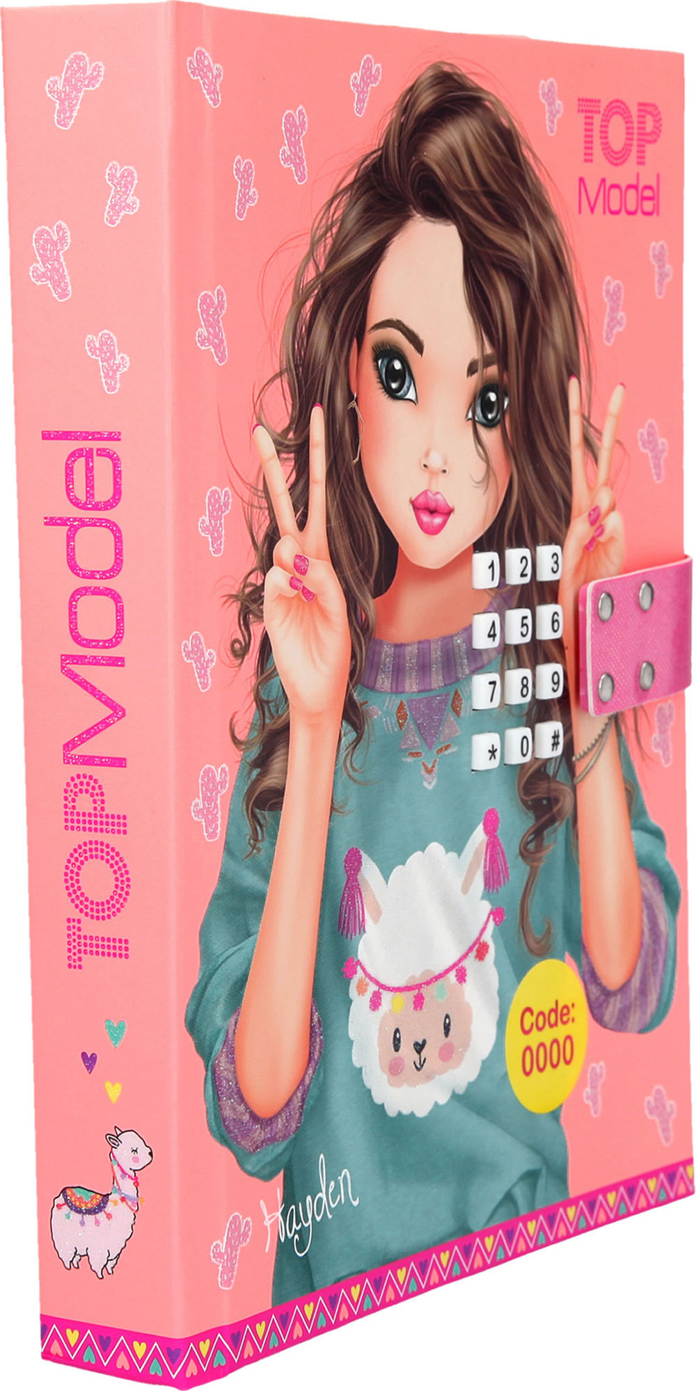 TOPModel diary with secret code and sound apricot