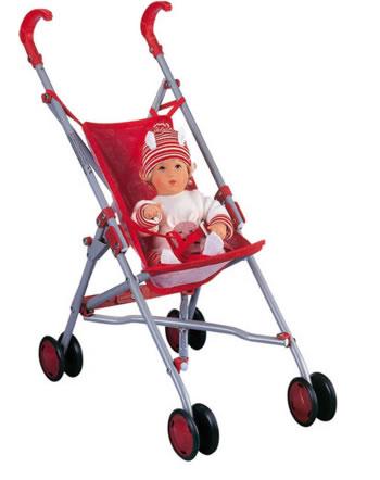Käthe Kruse Buggy pour les poupées rouge 79303