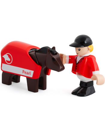 BRIO Pferd mit Reiter 33793