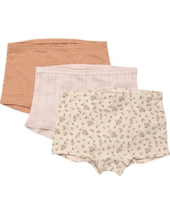 CeLaVi Mädchen-Unterhose Hipster Panties 3er Set BLUMEN toasted nut 5910-422