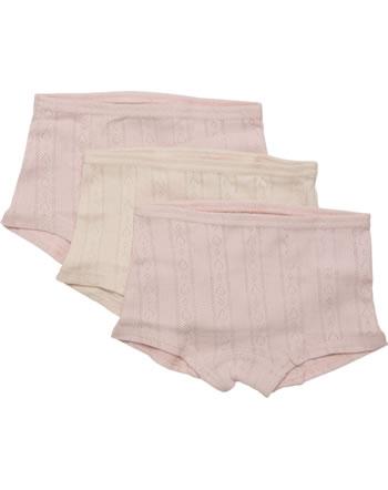 CeLaVi Mädchen Unterhose Hipster Panties 3er Set  HERZCHEN sepia rose 5912-584