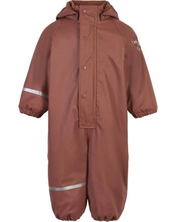 CeLaVi PU Regenanzug Overall Fleece RECYCLED mahogany 310256-4540