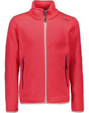 CMP Fleece-Jacke Girl in Strick-Optik red fluo/magenta 3H19925-05CF