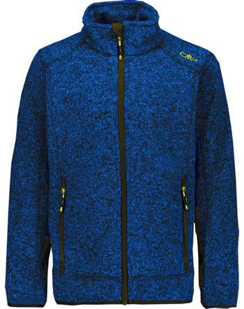CMP Fleece-Jacke in Strick-Optik Boy royal/lemon 3H60744-03NE