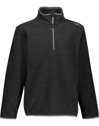 CMP Fleece-Pullover Jungen nero melange 30G0504-U973