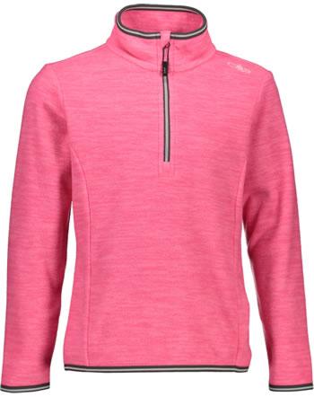 CMP Fleece-Pullover Mädchen pink fluo melange 30G0495-B408