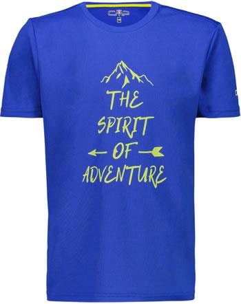 CMP Shirt fonctionnelle manches courtes garcon UV 40+ royal 38T6744-N951
