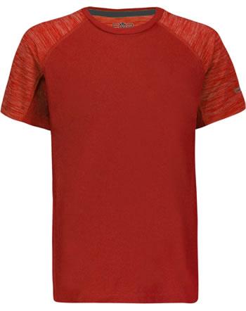 CMP Shirt fonctionnelle manches courtes Raglan garcon UV 40+  flame 30T7254-C589