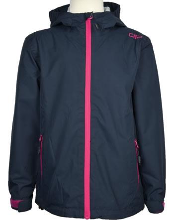 CMP Regenjacke mit Kapuze für Mädchen blu scuro 39X7985-N950