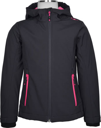 CMP Softshell-Jacke mit Kapuze Girl antracite/bouganville 3A29385N-33UE