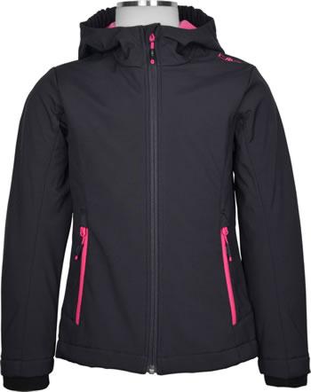 CMP Softshell veste avec capuchon Girl antracite/bouganville 3A29385N-33UE