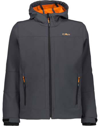 CMP Softshell-Jacke mit Kapuze BOY antracite/orange fluo 3A00094-24UF