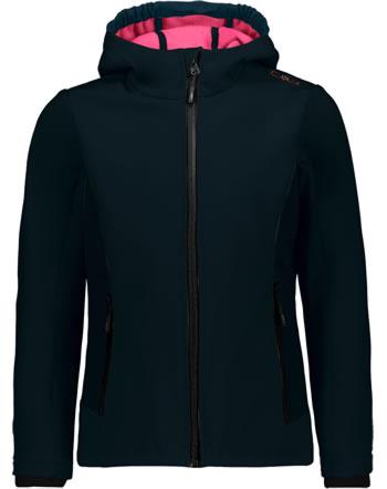 CMP Softshell veste avec capuchon GIRL antracite/red 3A29385N-25UF