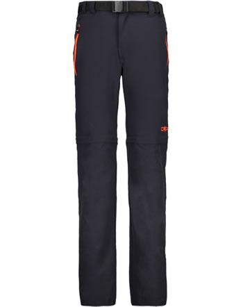 CMP zip-off-pantalon BOY KIDS antracite-flash orange 3T51644-09UE