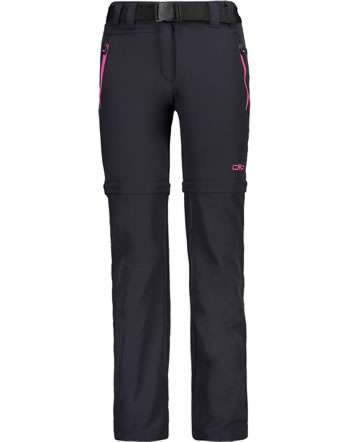 CMP zip-off-pantalon GIRL KIDS antracite-bouganville3T51445-33UE