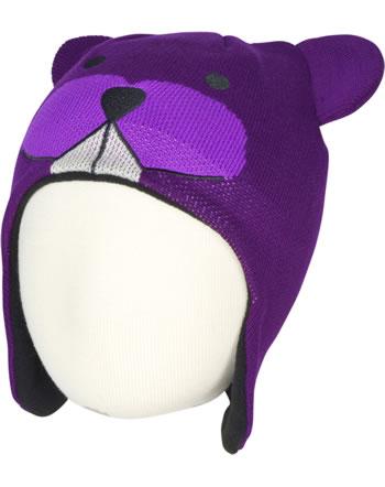 Color Kids Strick-Inkamütze REAVER MINI mit Ohren dark purple 103457-04162