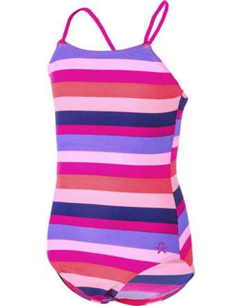 Color Kids Badeanzug TIFLI UV 40+ pink glo gestreift 103555-04147