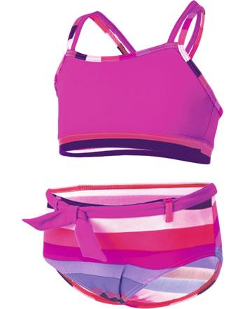Color Kids Bikini TICKY UV 40+ pink glo gestreift 103562-04147