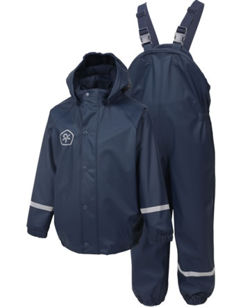 Color Kids PU-Regenset Jacke u. Hose Fleece midnight navy 104358-1143