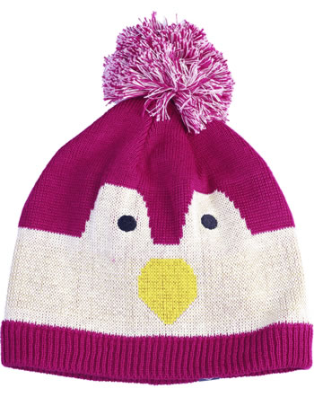 Color Kids Pudel-Mütze KISSO Pinguin Mini rasberry 103812-443
