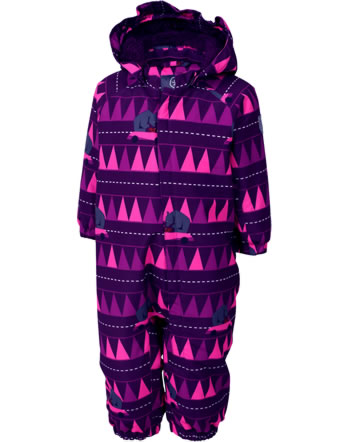 Color Kids Schnee-Overall MINI RIMAH Air-flo 10.000 pickled beet AOP 104061-4181