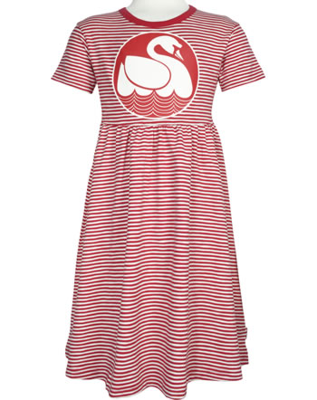Danefae Kinder-Kleid Kurzarm SHELLFISH DRESS SWAN red/chalk 70193-3298