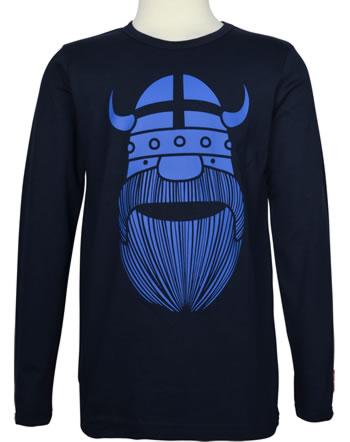 Danefae Shirt long sleeve BASIC BLUE ERIK FLAG navy 30106-2988