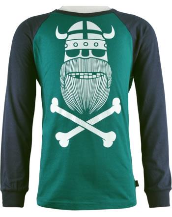 Danefae Kinder-T-Shirt Langarm BASIC RAGLAN ERIK dk navy/dk duck 11038-3336