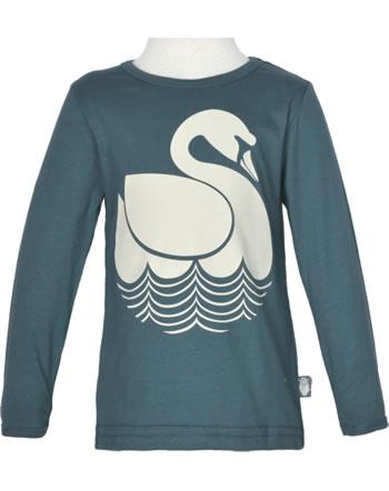 Danefae Kinder-T-Shirt Langarm BASIC SWAN dusty navy 11454-3434