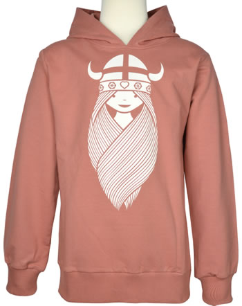 Danefae Sweatshirt m. Kapuze WARRIOR HOODIE FREJA grey rose 11911-4018