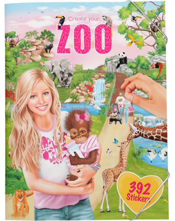 Depesche colouring book Create your Zoo with sticker