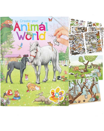 Depesche colouring book Create your Animal World
