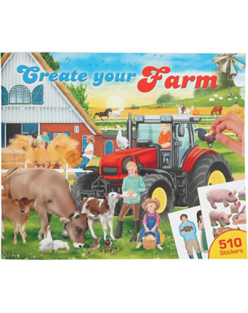 Depesche painting book with sticker Create your Farm 11585