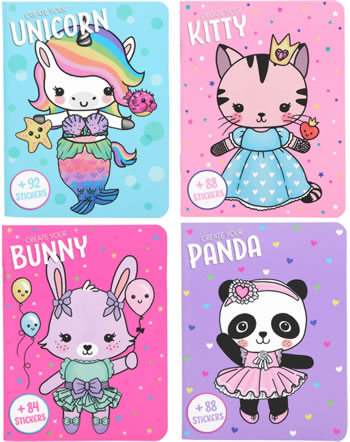 Depesche Minimalbuch Create your Kitty, Bunny, Unicorn, Panda