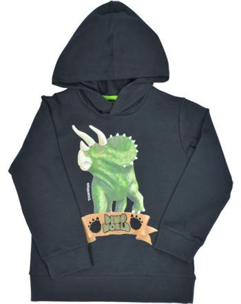 DINO WORLD Sweatshirt mit Kapuze Langarm TRICERATOPS schwarz 83404-090