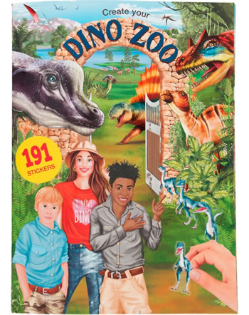 DINO WORLD Create your Dino Zoo Livre avec autocollantes 11400