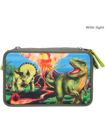 DINO WORLD trousse avec bourrage LED 11460