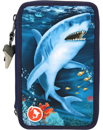 DINO WORLD trousse avec bourrage avec LED Underwaterworld requin