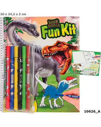DINO WORLD Fun-Kit livre à colorier 10626/A