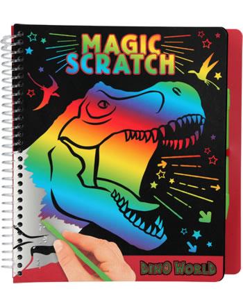 DINO WORLD coloring book Magic Scratch T-Rex