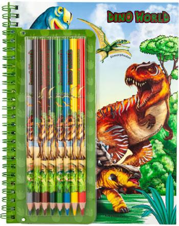 DINO WORLD Livre à colorier avec crayons de couleur 6852