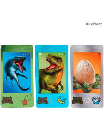 DINO WORLD Mobile mini livre à colorier avec image vacillant 11412
