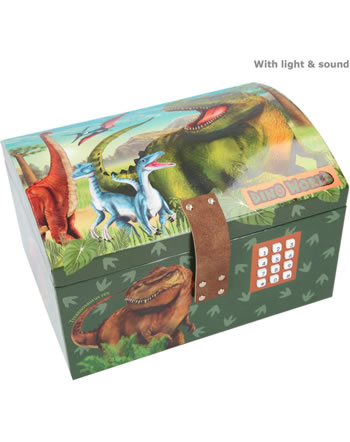 DINO WORLD Treasure chest with code, sound and light 11461